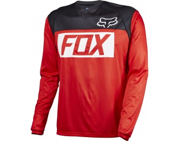 FOX INDICATOR long-sleeved cycling shirt red/black/white