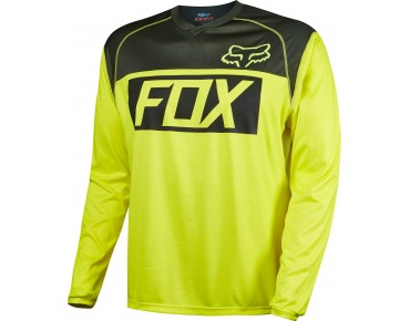 FOX INDICATOR long-sleeved cycling shirt flo yellow