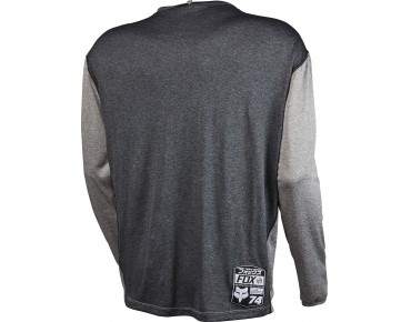 FOX INDICATOR long-sleeved cycling shirt heather graphite
