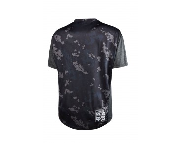 FOX INDICATOR PRINT cycling shirt heather black
