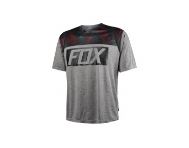 FOX INDICATOR PRINT cycling shirt heather graphite