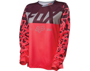 FOX DEMO DH long-sleeved cycling shirt for women neon red