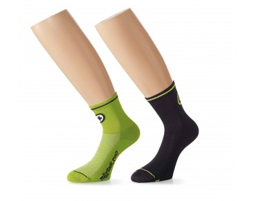 ASSOS Mille_evoS7 twin pack of socks green