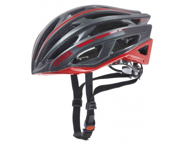 uvex race 5 helmet black mat/red