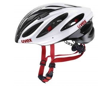 uvex boss race helmet white/black