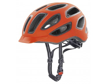 uvex city e helmet neon orange mat