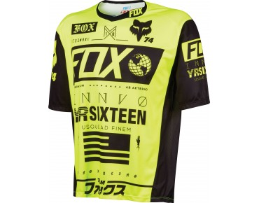 FOX DEMO UNION cycling shirt flo yellow