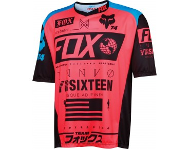 FOX DEMO UNION Bikeshirt neon red