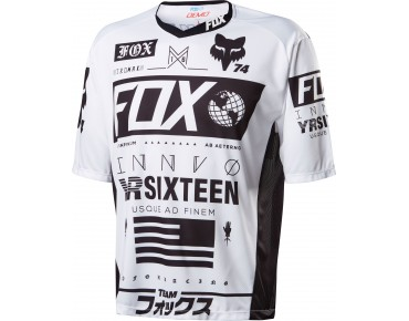 FOX DEMO UNION Bikeshirt white