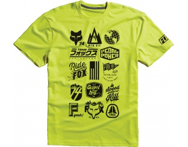 FOX MTN DIVISION technical t-shirt flo yellow