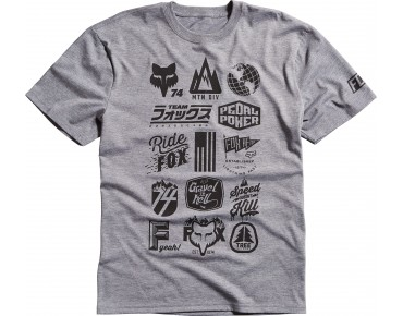 FOX MTN DIVISION Funktions T-Shirt heather graphite