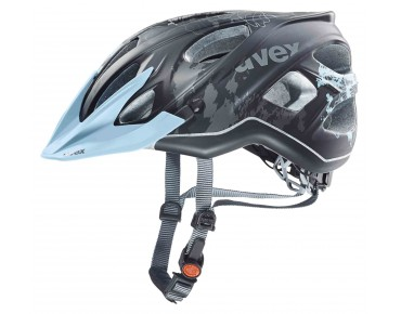 uvex stiva cc women's helmet black/flower blue mat