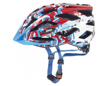 uvex air wing kids' helmet white/red/blue