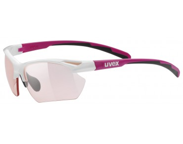 uvex SPORTSTYLE 802 SMALL VARIO Brille white-pink/variomatic red