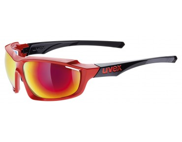uvex SPORTSTYLE 710 glasses red-black/mirror red