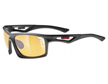 uvex SPORTSTYLE 700 Brille black mat/ litemirror orange