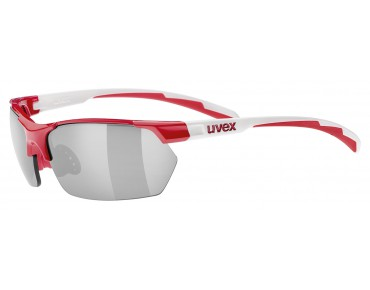 uvex SPORTSTYLE 114 glasses red-white/litemirror silver