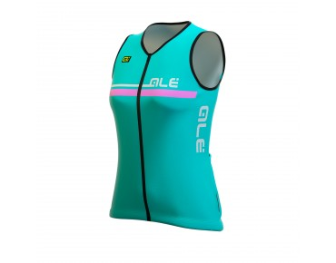 ALÉ PLUS PERLA 2016 sleeveless jersey for women turquoise/fluo pink