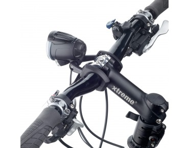 B + M handlebar bracket for dynamo-powered headlights