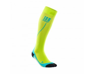 cep RUN 2.0 compression socks lime/hawaii blue