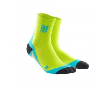 cep SHORT socks lime/hawaii blue