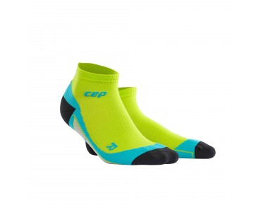cep LOW CUT socks lime/hawaii blue
