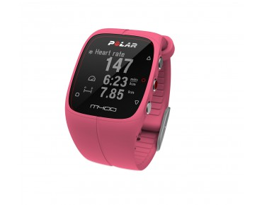 Polar M400 HR GPS training watch pink
