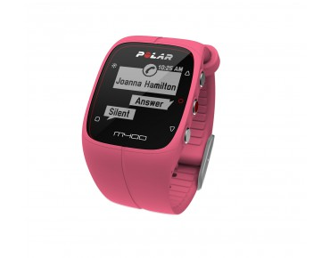 Polar M400 HR sports watch pink
