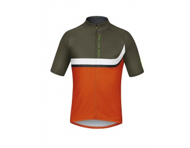 GORE BIKE WEAR POWER TRAIL bike shirt blaze orange/ivy green