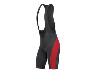 GORE BIKE WEAR POWER bib shorts black/red