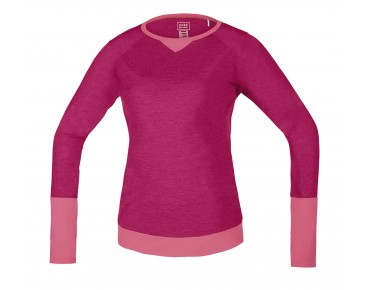 GORE BIKE WEAR POWER TRAIL LADY long-sleeved women's shirt jazzy pink/giro pink