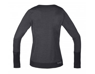 GORE BIKE WEAR POWER TRAIL LADY - maglia maniche lunghe donna raven brown/black