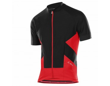 Löffler WINDSTOPPER FZ jersey black/red