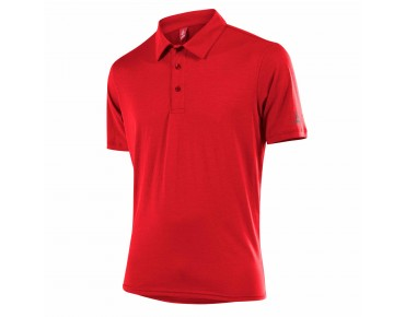 Löffler SINGLE CF polo shirt red
