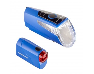 Trelock LS 460 I-GO Power/ LS 720 Reego ION lighting set -2016- blue