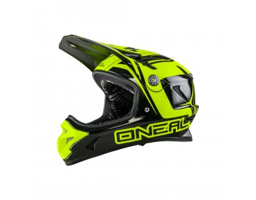 O´NEAL SPARK STEEL full visor helmet black/neon yellow
