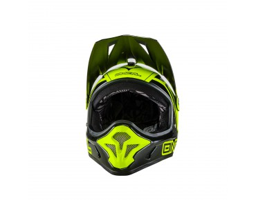 O´NEAL SPARK STEEL Vollvisierhelm black/neon yellow