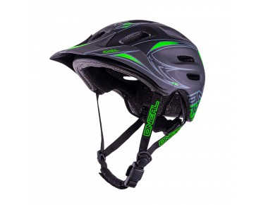 O´NEAL DEFENDER helmet black/green