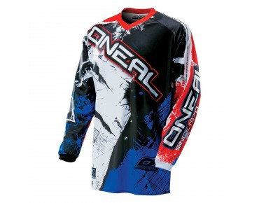 O´NEAL ELEMENT  Langarm-Bikeshirt SHOCKER black/blue red