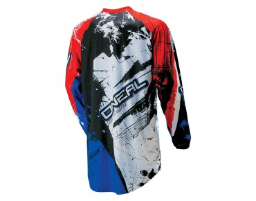 O´NEAL ELEMENT long-sleeved bike shirt SHOCKER black/blue red