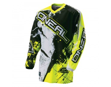 O´NEAL ELEMENT YOUTH long-sleeved bike shirt SHOCKER black/hi-vis