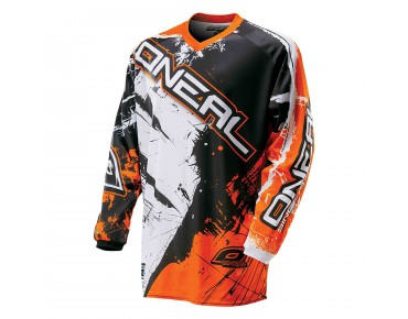 O´NEAL ELEMENT YOUTH long-sleeved bike shirt SHOCKER black/orange