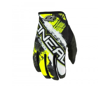 O´NEAL JUMP - guanti shocker black/neon yellow