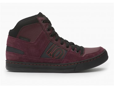 FIVE TEN FREERIDER HIGH flat pedal shoes maroon hero