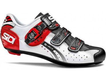 SIDI GENIUS 5 FIT Rennradschuhe white/black/red