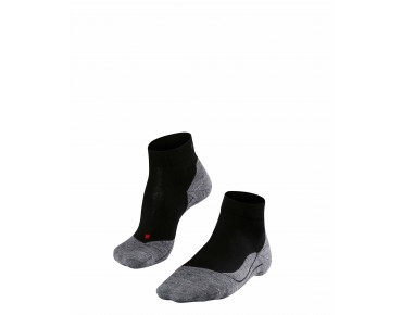 FALKE RU4 SHORT socks black/grey