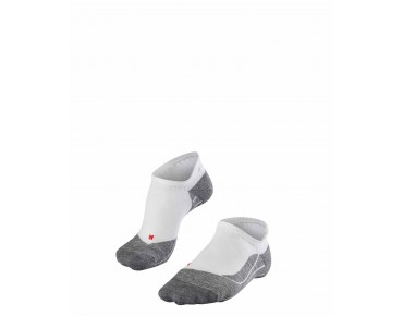 FALKE RU4 INVISIBLE Socke white/grey