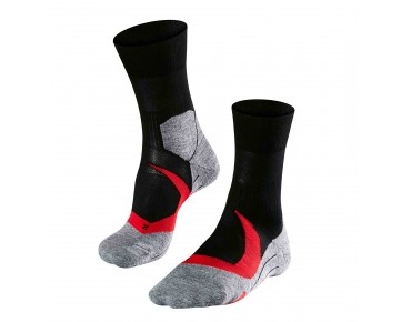 FALKE RU4 CUSHION Socke neon red/black
