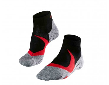 FALKE RU4 CUSHION SHORT socks neon red/black