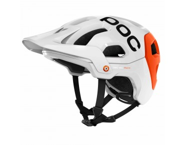 POC TECTAL RACE helmet hydrogenwhite/iron orange